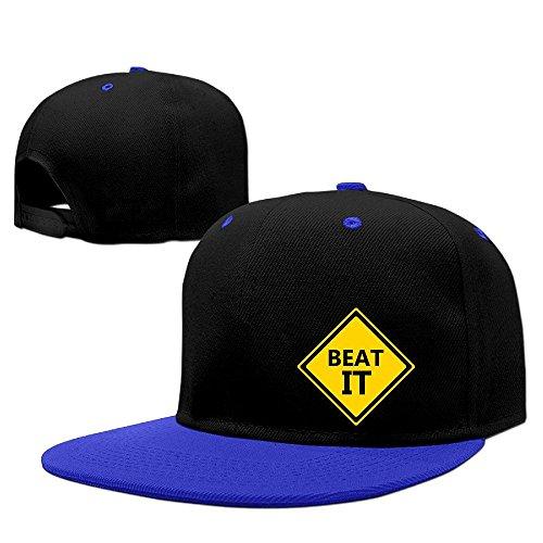 (LQYG Beat It Hip-Hop Cotton Hats Breathable Caps RoyalBlue)
