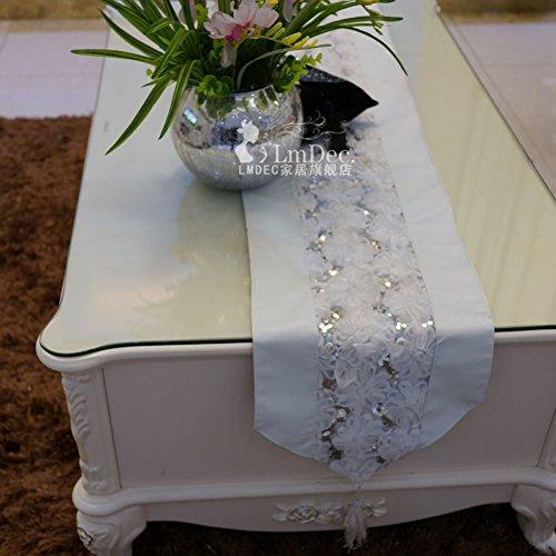 tableland runner/Like Marie Pillet silk tablecloths/tea table runner/bed runner/table runner/fabrics/table cloth-A 30x200cm(12x79inch)