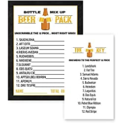 Beer Word Scramble Party Game Card Set of 25