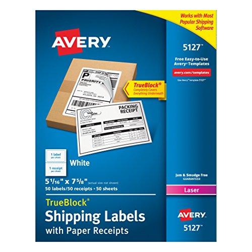 Avery Shipping Receipts TrueBlock Technology