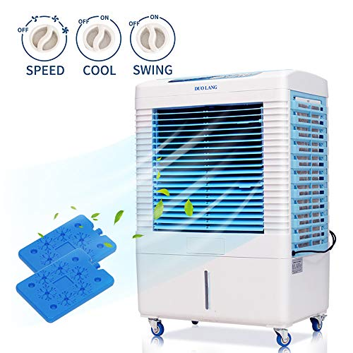 DUOLANG 2647 CFM Indoor Outdoor Evaporative Air Cooler - 3 Modes/Speeds Portable Air Conditioner Swamp Cooler with Fan & Humidifier for 322.9 sq. ft. - DL-4502