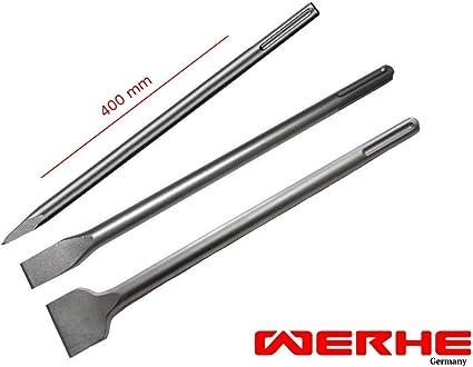 WERHE Burin professionnel SDS Plus Burin plat 50 x 400 mm Burin plat