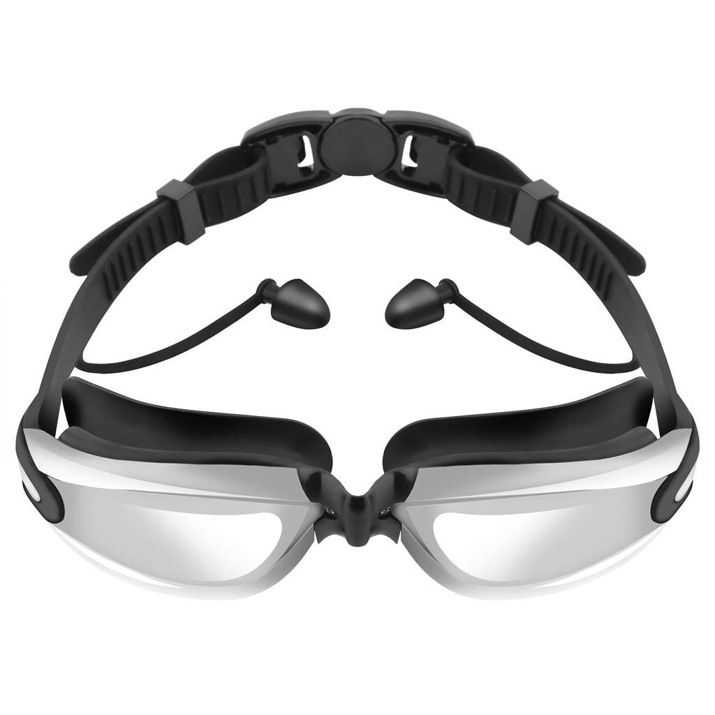 Swim Goggles, No Leaking Anti Fog UV Protection Crystal Clear Vision Triathlon Swim Goggles for Adult Men Women Youth by chinaware