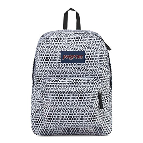 JanSport Superbreak Backpack (One Size, White Urban Optical)