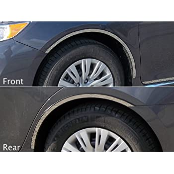 0.875 Width WQ29155 QAA fits 2009-2015 Toyota Venza 4 Piece Stainless Wheel Well Accent Trim