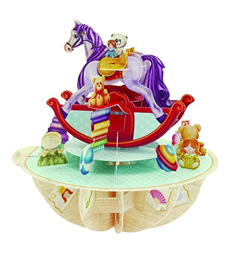 Price comparison product image Santoro Pirouettes 3D Pop Up Card, Rocking Horse