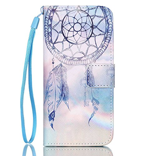 Vintage Daisy Canvas Football (iPhone 6 Case, Voanice iPhone 6S Case Wallet PU Leather Folio Flip Case Protective Card Holder Slot Stand Kickstand Slim Pattern Cover Wrist Strap Magnetic for iPhone 6/6S 4.7 inch&Stylus-Aeolian Bell)