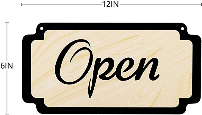 Ced454sy Open Business Sign Open Closed Sign Double sided Open Sign Open Sign Hanging Store Sign Office Sign Business Signage Door sign