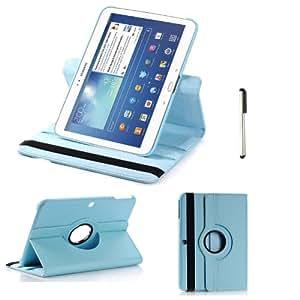 Azul pálido rotación Funda Carcasa cubierta Cuero + Stylus Para Samsung Galaxy Tab 3 10.1 P5200 P5210 , 10.1 LTE P5220