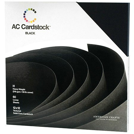 American Crafts Cardstock Pack 12 inch x 12 inch - 3PC by American Crafts