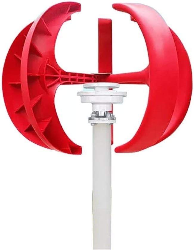 Be82aene Turbina de 12V / 24V 400W Linterna de Eje Vertical 5 Cuchillas de Viento generador de Viento con el regulador para al Aire Libre (tamaño : 12V)