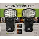 Capstone 16-Super Bright LED's Motion Sensor Lights 2-Pack Batteries Included