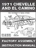 1971 Chevelle El Camino Monte Carlo GMC Sprint Assembly Manual Reprint