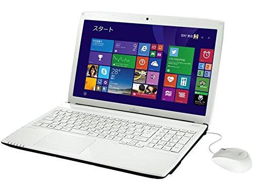富士通 fujitsu FMV LIFEBOOK AH42/T office【[H & B Premium] 】付き ノート CPU:Celeron-2957U OS:Windows8.1-Home 容量:1TB(HDD) メモリ:4GB 画面サイズ:15.6インチ 1366*768 - DVD-RW FMVA42TW Celeron / Microsoft Office H&B P ホワイト / FMVA42TW B01E6F12JC