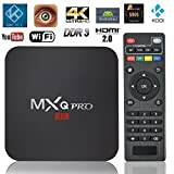 CLWHJ ® MXQ Pro Android TV Box Android 5.1 Amlogic s905 Kodi Fully Loaded 4K Ultimate HD Quad Core Smart Box 1G/8G Google Streaming Media Players with WiFi HDMI DLNA (MXQ PRO S905)