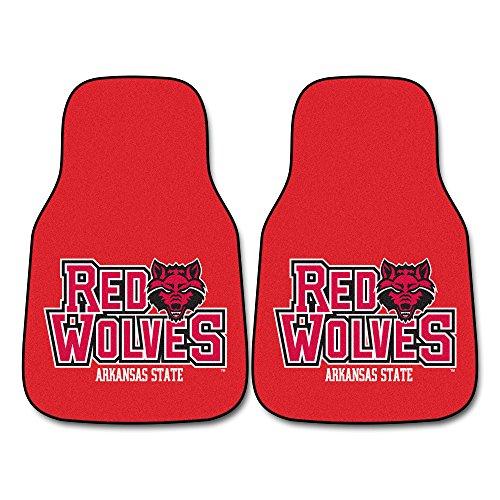 FANMATS NCAA Arkansas State University Red Wolves Nylon Face Carpet Car Mat (Arkansas State University Football)