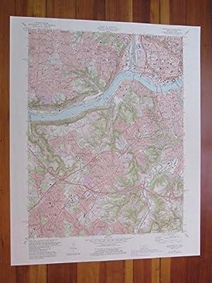Covington Kentucky 1987 Original Vintage USGS Topo Map