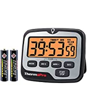 ThermoPro TM01 Digital Kitchen Timer with Touchable Backlit and Count Up Count Down Timer Loud Ring Magnetic Classroom Timer for Kids Teachers