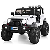 Costzon Ride On Truck, 12V Battery Powered Electric Ride On Car w/ 2.4 GHZ Bluetooth Parental Remote...
