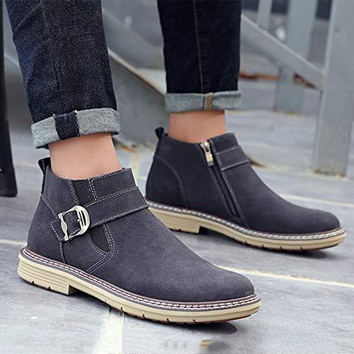 Alto Alto Uomo E Boots Stivaletti Primavera Stivali Classic Traspirante Traspirante Brogue Gray Aiuto Chelsea da Uomo Desert Autunno Oxblood RWgqf