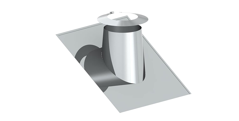 Edelstahl Dachdurchf/ührung 5/°-15/° mit Bleirand und Wetterkragen f/ür doppelwandige Schornsteine DW; /Ø 150mm Innendurchmesser