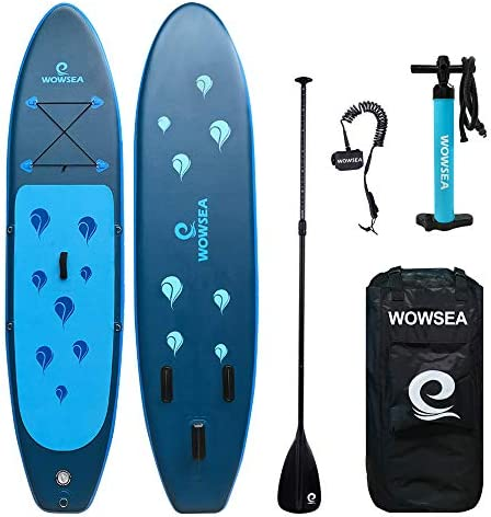WOWSEA SUP サップ 업 패 들 보드 サップボ?ド 폭 80cm 두께 15cm 탄약 130-150kg 초보자 중급자 미끄럼 7 점 세트 SUP 보드 요가 낚시 바다 여름 야외 풍선 서핑 보드 / WOWSEA SUP Up Paddle Board Supboard Width 80cm Thickness 15cm Loading 13...