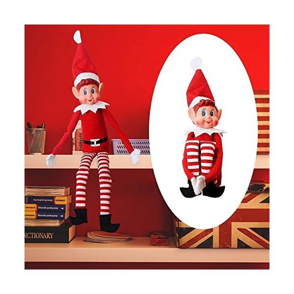 The Elf on the Shelf Peluche Elfo con Gambe Lunghe da 12 Pollici Morbido