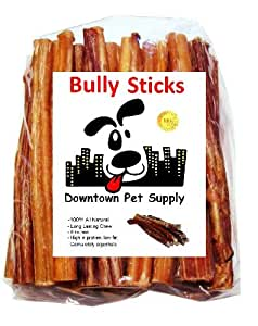 6 bully sticks free range standard regular thick select 6 inch 48 pack by. Black Bedroom Furniture Sets. Home Design Ideas