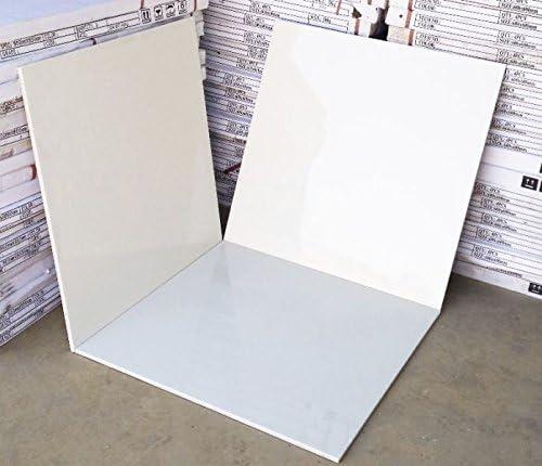 /£ 14.50//sq m Carrelage en porcelaine Blanc 600/x 600/mm Haute Brillance scell/é /échantillon uniquement
