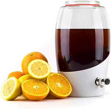 23.18 x 23.18 x 34.77 cm Mortier Pilon Kombucha Brewing Jar-5L White