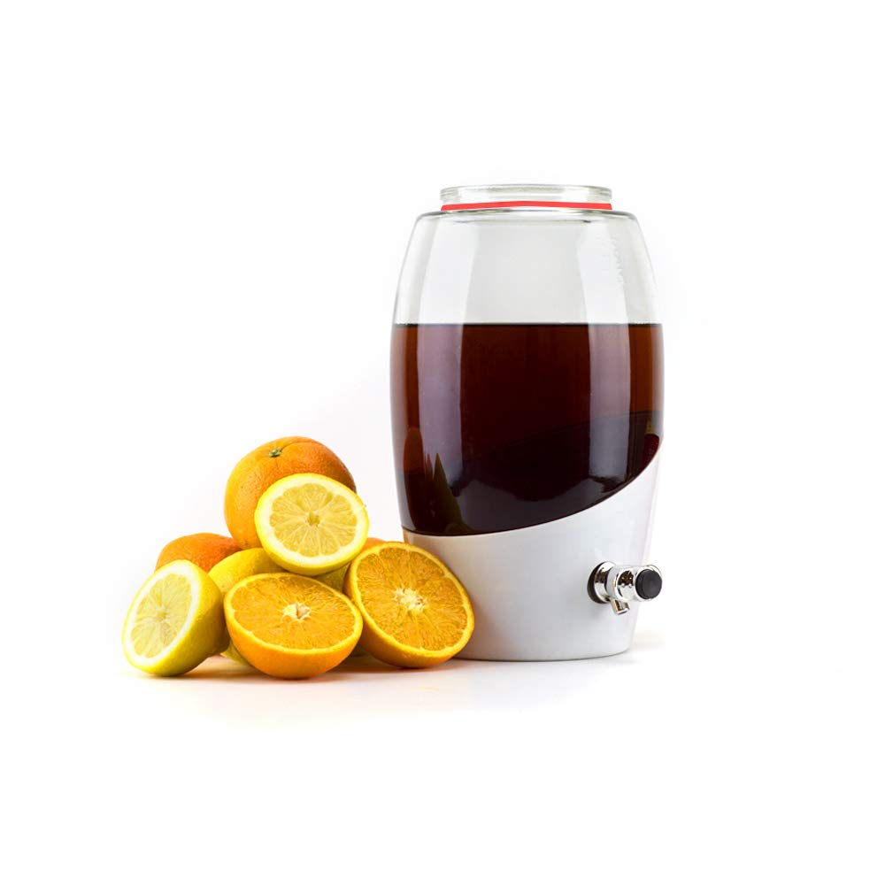 Mortier Pilon Jar-5L 5L Kombucha Brewing Jar, 5 L, White by Mortier Pilon (Image #1)