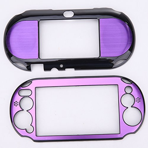 Alloet Aluminum Skin Case Cover Shell for Sony PlayStation PS Vita 2000 PSV  PCH-20 (Purple)