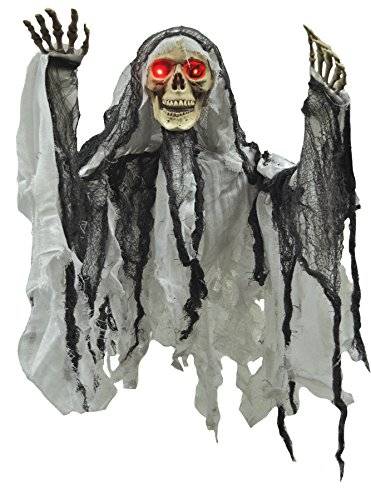 Grey Skeleton Reaper Robe For Kids (UHC Scary Hanging Skeleton Reaper Horror Party Decoration Halloween Prop)