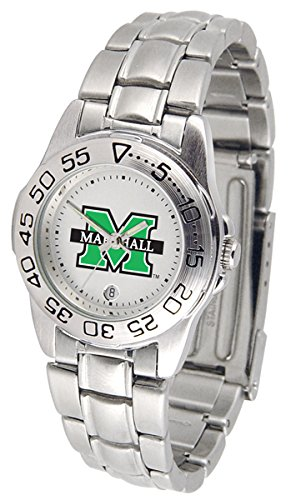 - NCAA Marshall Thundering Herd Ladies Gameday Sport Watch with Stainless Steel Band