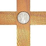 Juvale Wood Catholic Crucifix Cross with