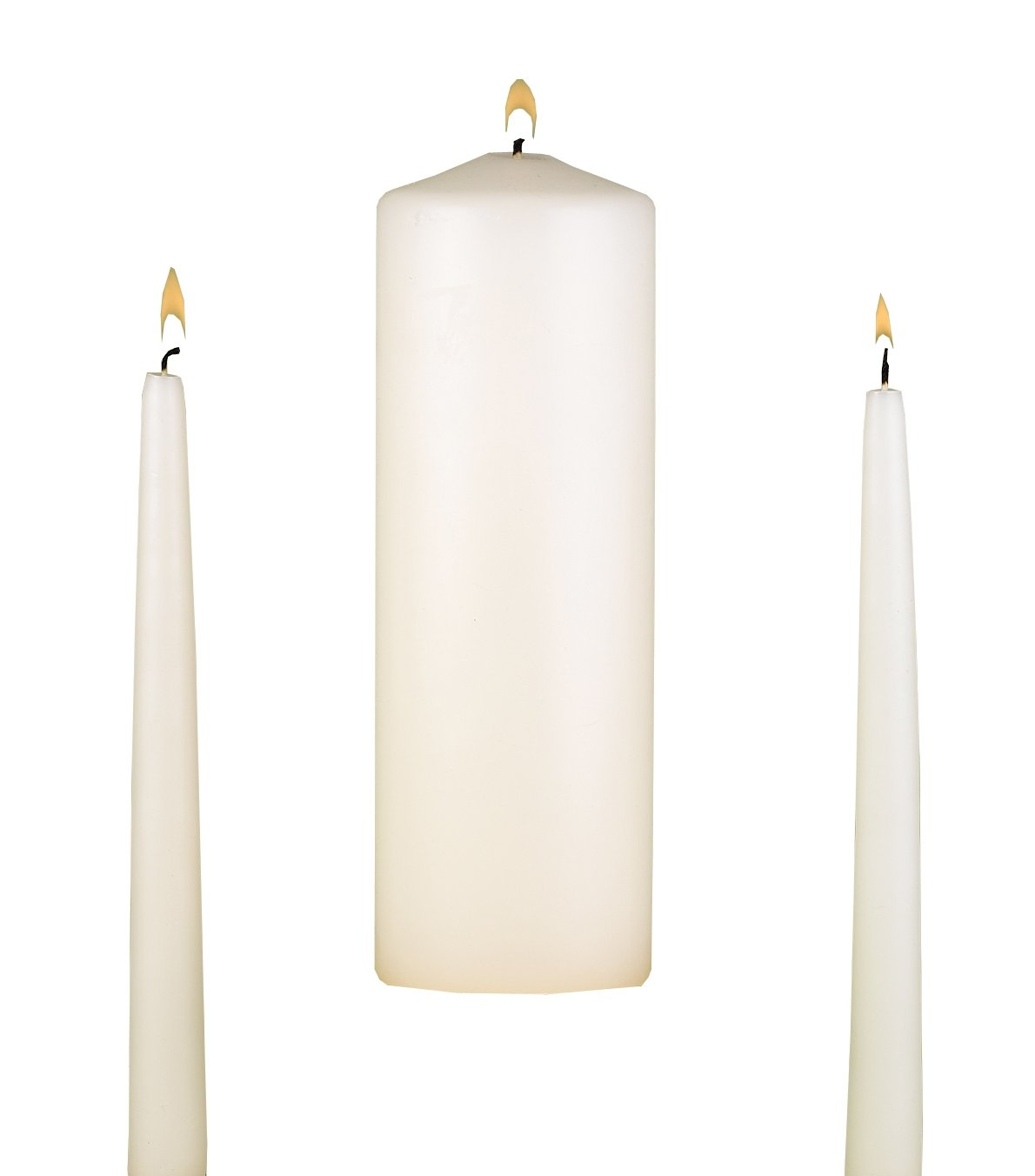 Hortense B 95095 Hewitt Wedding Accessories, Unity Candle Set, Ivory, 9-Inch Pillar and 2 10-Inch Tapers