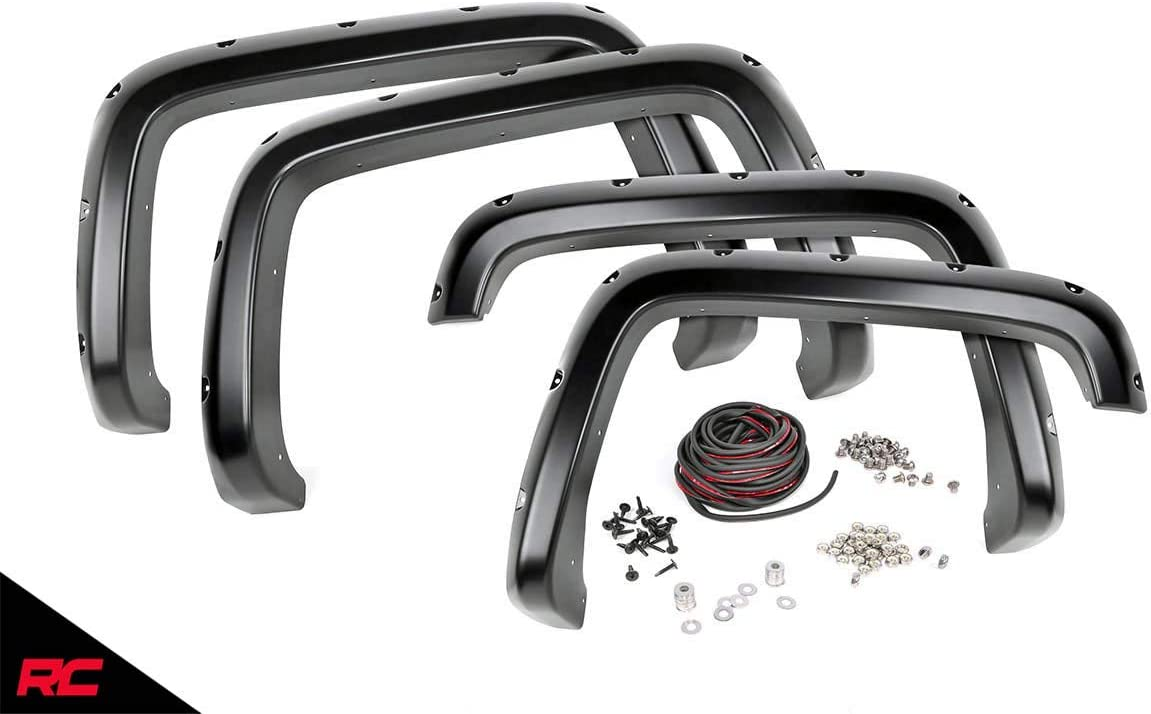6.5//8 FT Bed F-C10716 fits Bolt On Style 2007-2013 GMC Sierra 1500 Rough Country Pocket Fender Flares