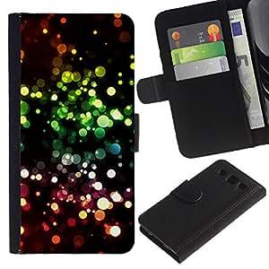 LASTONE PHONE CASE / Lujo Billetera de Cuero Caso del tirón Titular de la tarjeta Flip Carcasa Funda para Samsung Galaxy S3 III I9300 / Vibrant Ring Circle Black Pink