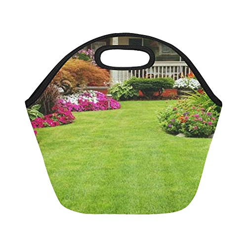 Insulated Neoprene Lunch Bag Front Yard And Backyard Landscaping Ideas Designs Large Size Reusable Thermal Thick Lunch Tote Bags For Lunch Boxes For Outdoors,work, Office, School