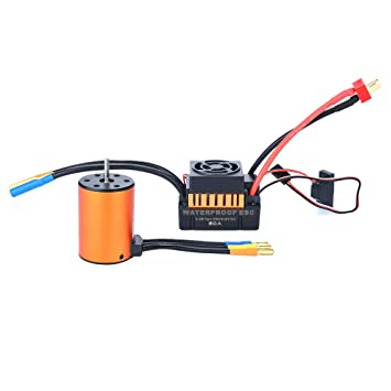 TianranRT 3650 3100 kV - Motor sin escobillas y tarjeta ESC de 60 A ...