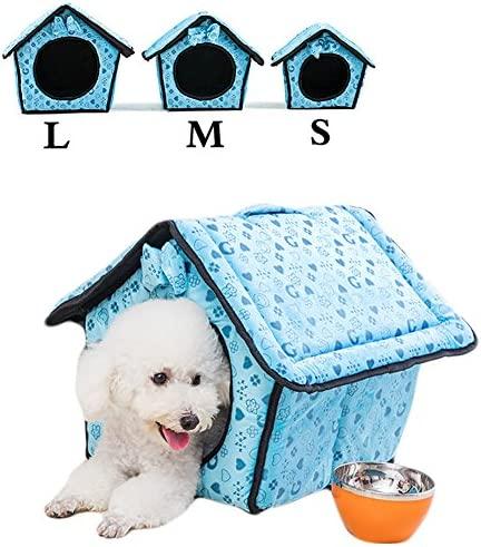 Saymequeen Lovely Heart-Shaped Pattern Indoor Dog House Cat Cave Bed Puppy Kitten Play Room Bed Pet Cave