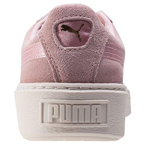 Puma Mocka Plattform Satin 365.828 Till 03 Kvinnor Skor Rosa