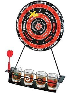 Relaxdays Juego para Beber Bingo, 6 Vasos de Chupito, Manivela y 48 Bolas, Metal y Plástico, 19 x 20 x 20 cm, Multicolor, Adultos Unisex: Amazon.es: Deportes y aire libre