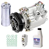 New AC Compressor & Clutch With Complete A/C Repair Kit For Honda Civic Hybrid - BuyAutoParts 60-81362RK New