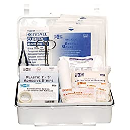 Pac-Kit by First Aid Only 6084 #25 159-Piece Contractor\'s First Aid Kit, ANSI Compliant, Weatherproof Plastic Case