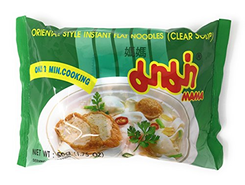Instant Flat Noodle Soup, 1.75 oz. Packets (Set of 10) (Clear Soup)