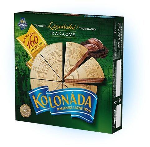 Opavia Tradicni lazenske trojhranky Kolonada 200g Original Czech Spa Triangles Cocoa (2-Pack)