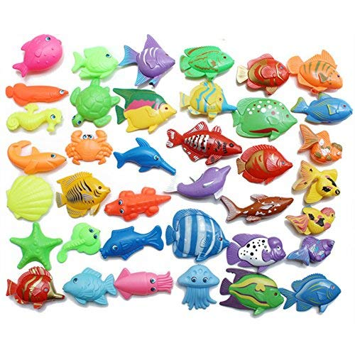 69 Pieces Magnetic Fishing Toy Outdoor Fun Fishing Game Baby Learning & Education Gift Bath Toys Set Ty684