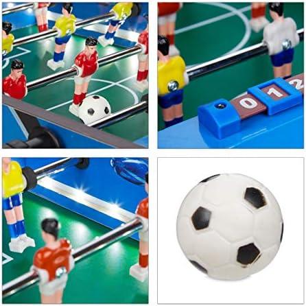 Relaxdays Futbolín de Mesa, con luz led, Mini Juego para Niños y ...