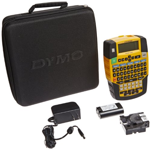DYMO Rhino 4200 Industrial Label Maker Carry Case Kit with Roll of 1/2 All-Purpose Vinyl Labels, Black on White (1835374) by DYMO